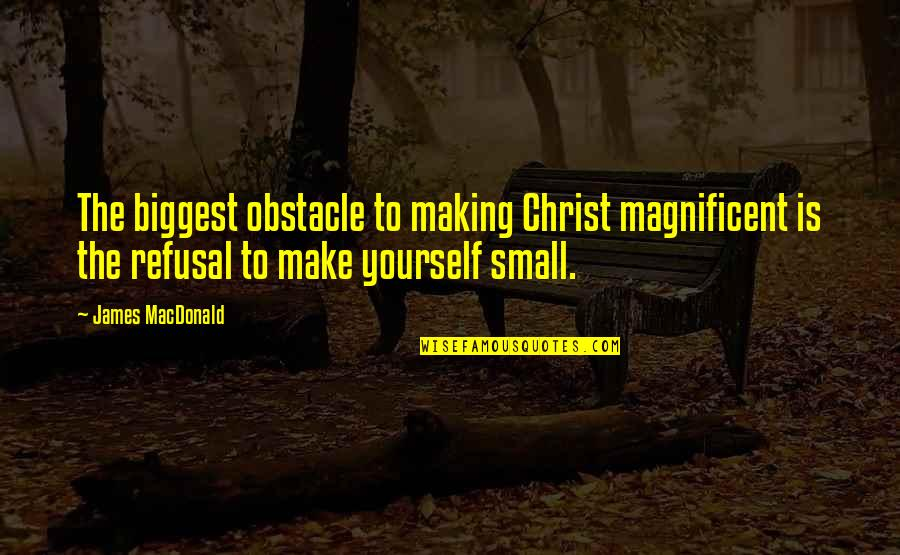 Not Caring Anymore Relationship Quotes By James MacDonald: The biggest obstacle to making Christ magnificent is