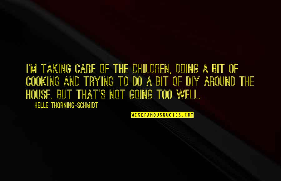Not Doing Well Quotes By Helle Thorning-Schmidt: I'm taking care of the children, doing a