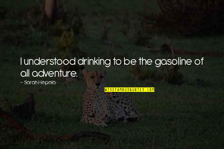 Not Drinking Alcohol Quotes By Sarah Hepola: I understood drinking to be the gasoline of