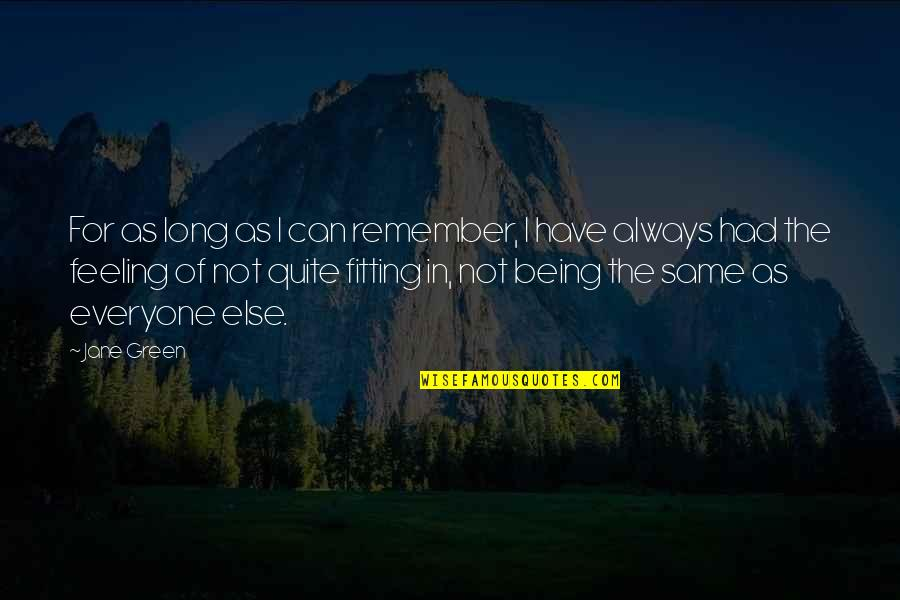 Not Everyone Being The Same Quotes By Jane Green: For as long as I can remember, I