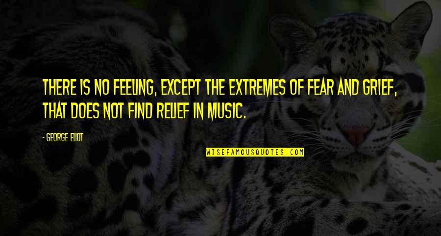 Not Feeling Quotes By George Eliot: There is no feeling, except the extremes of