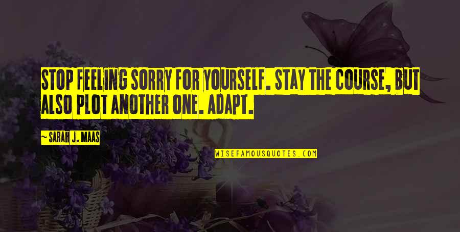 Not Feeling Sorry For Yourself Quotes By Sarah J. Maas: Stop feeling sorry for yourself. Stay the course,