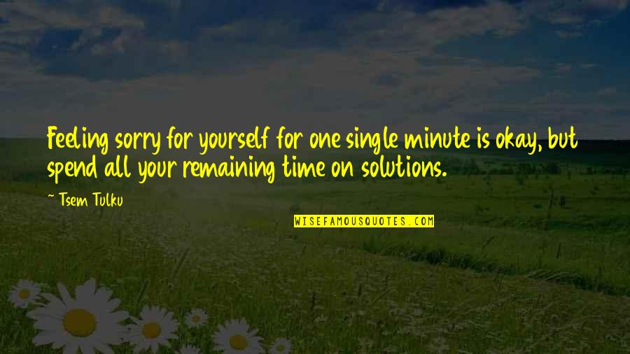 Not Feeling Sorry For Yourself Quotes By Tsem Tulku: Feeling sorry for yourself for one single minute