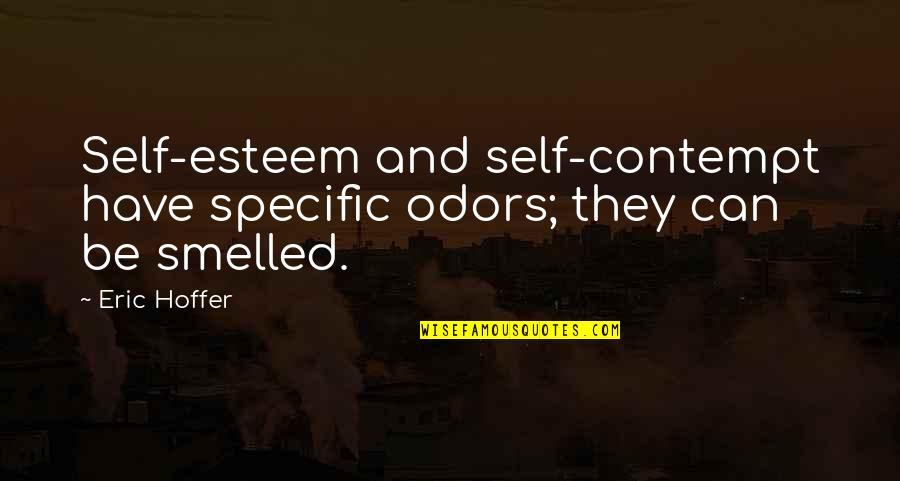 Not Feeling Special In A Relationship Quotes By Eric Hoffer: Self-esteem and self-contempt have specific odors; they can