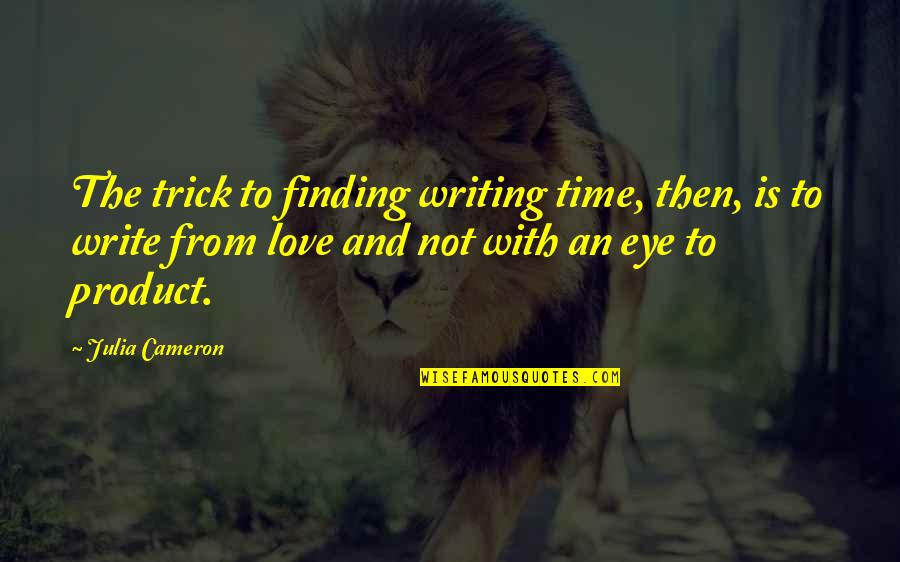 Not Finding Time Quotes By Julia Cameron: The trick to finding writing time, then, is