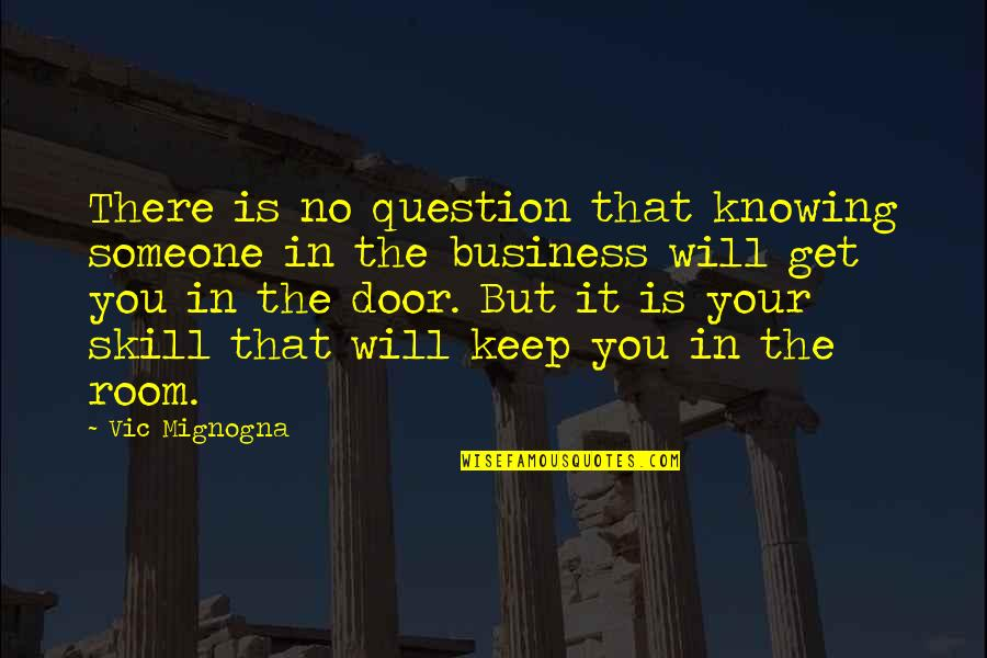 Not Knowing Someone Quotes By Vic Mignogna: There is no question that knowing someone in
