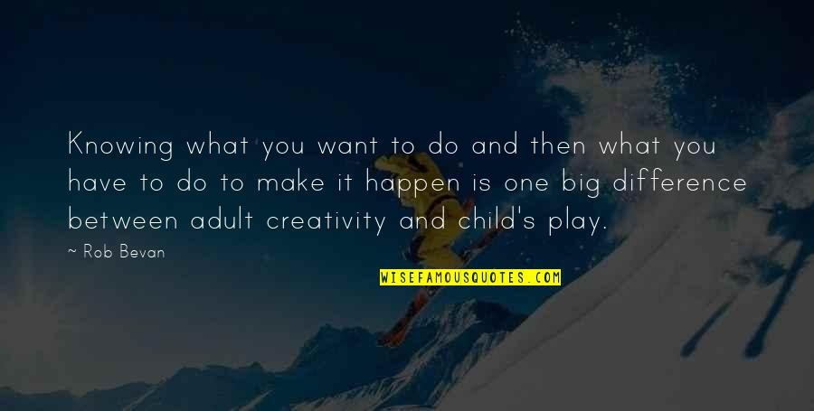 Not Knowing What U Want Quotes By Rob Bevan: Knowing what you want to do and then
