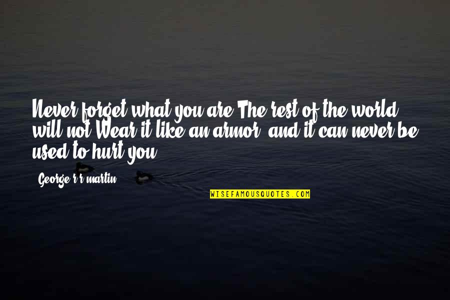 Not Like It Used To Be Quotes By George R R Martin: Never forget what you are.The rest of the