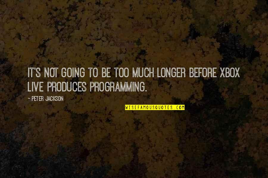 Not Much Longer Quotes By Peter Jackson: It's not going to be too much longer