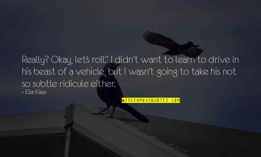 "Not Okay Quotes By Elle Klass: Really? Okay, let's roll."" I didn't want to"