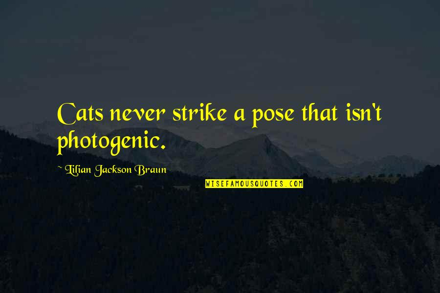 Not Photogenic Quotes By Lilian Jackson Braun: Cats never strike a pose that isn't photogenic.
