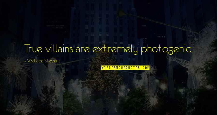 Not Photogenic Quotes By Wallace Stevens: True villains are extremely photogenic.