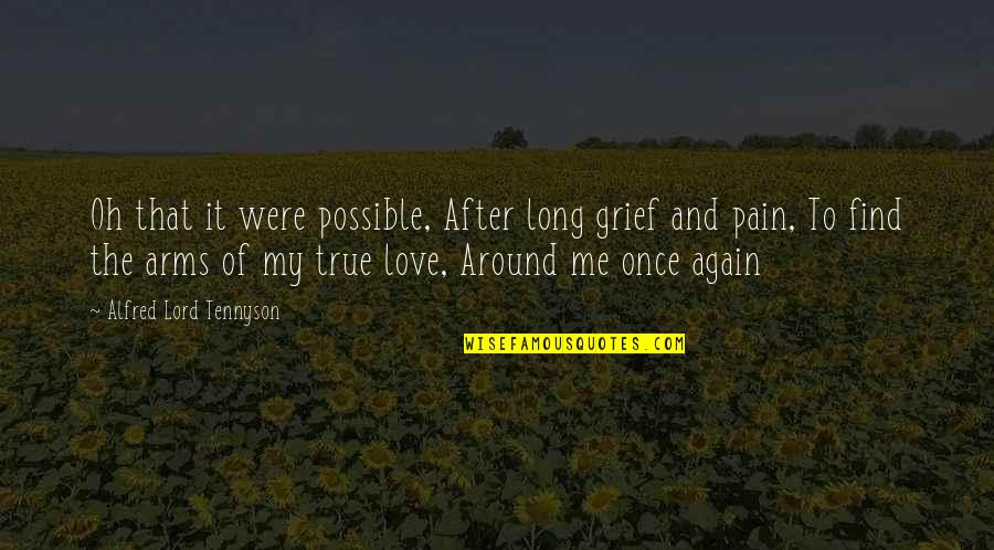 Not Possible For Me Quotes By Alfred Lord Tennyson: Oh that it were possible, After long grief