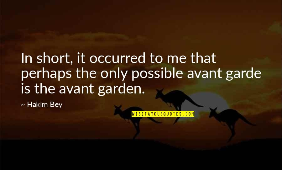 Not Possible For Me Quotes By Hakim Bey: In short, it occurred to me that perhaps