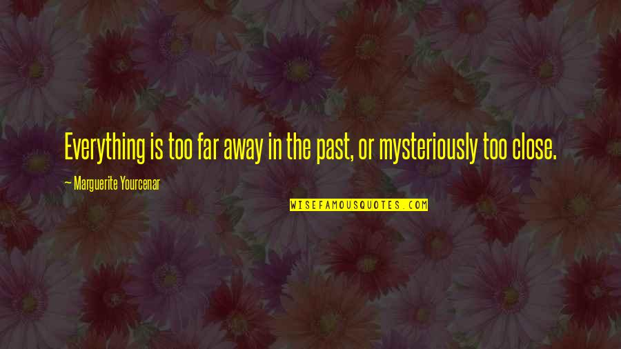 Not So Far Away Quotes By Marguerite Yourcenar: Everything is too far away in the past,