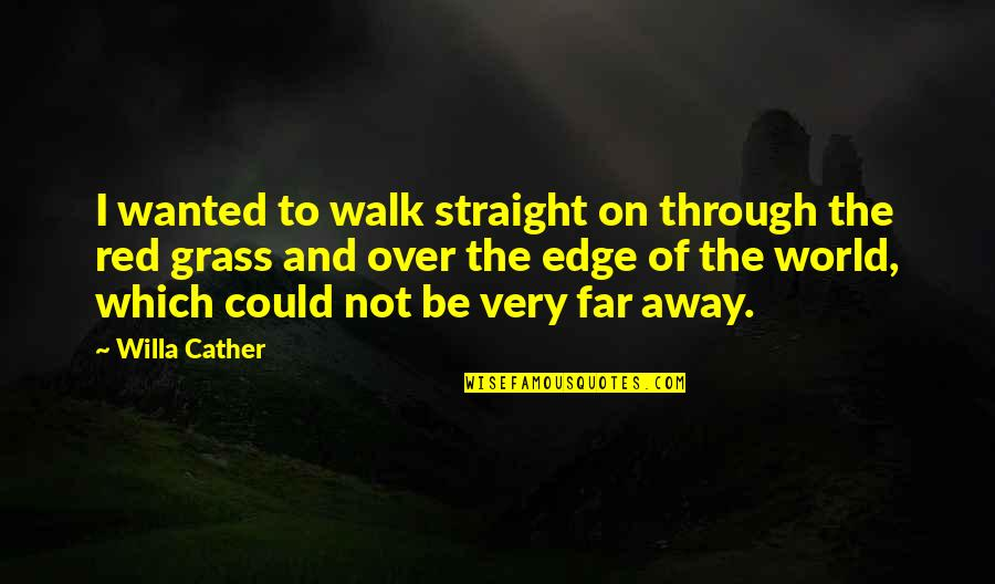 Not So Far Away Quotes By Willa Cather: I wanted to walk straight on through the