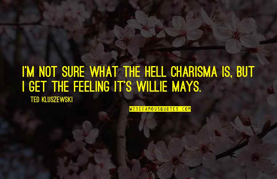 Not Sure Feelings Quotes By Ted Kluszewski: I'm not sure what the hell charisma is,