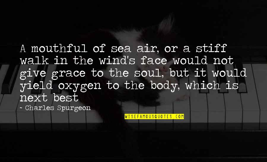 Not The Best Body Quotes By Charles Spurgeon: A mouthful of sea air, or a stiff