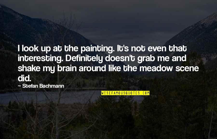 Not Too Deep Quotes By Stefan Bachmann: I look up at the painting. It's not