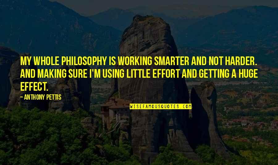 Not Working Too Much Quotes By Anthony Pettis: My whole philosophy is working smarter and not