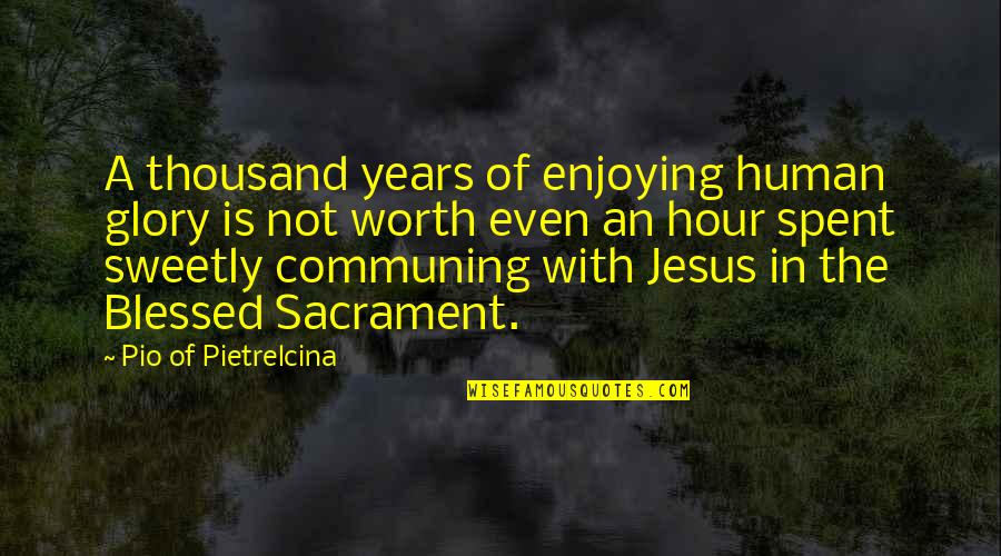 Not Worth Quotes By Pio Of Pietrelcina: A thousand years of enjoying human glory is