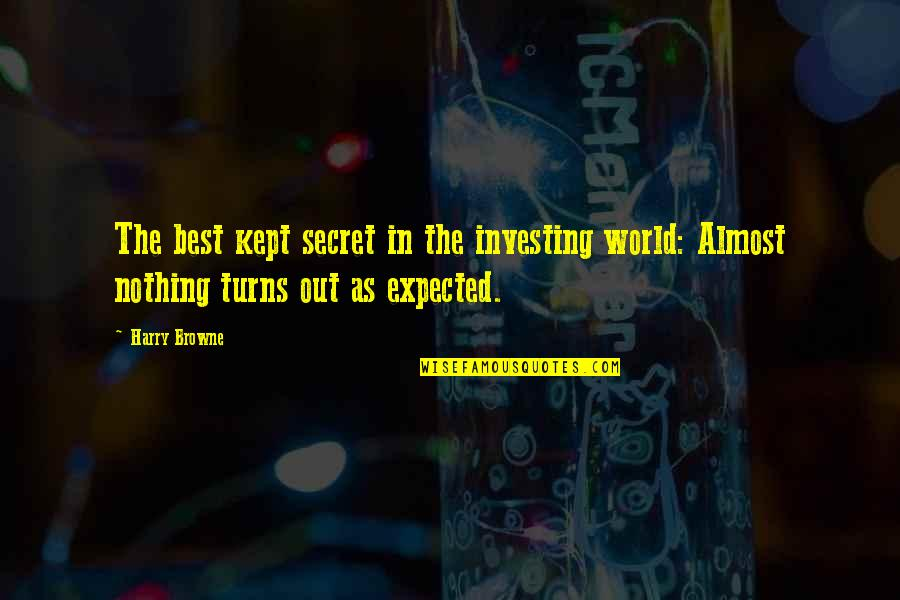 Nothing Expected Quotes By Harry Browne: The best kept secret in the investing world: