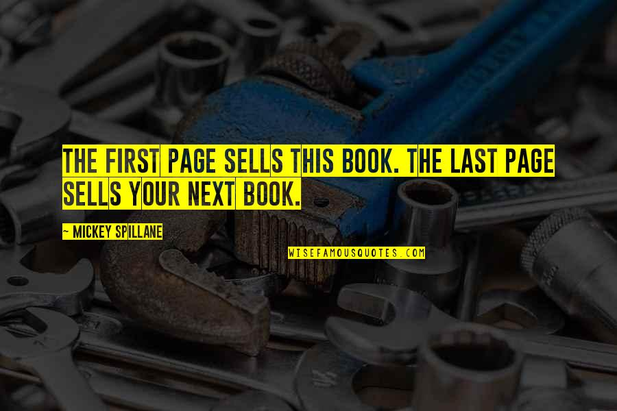 Nothing Is Impossible With God Picture Quotes By Mickey Spillane: The first page sells this book. The last