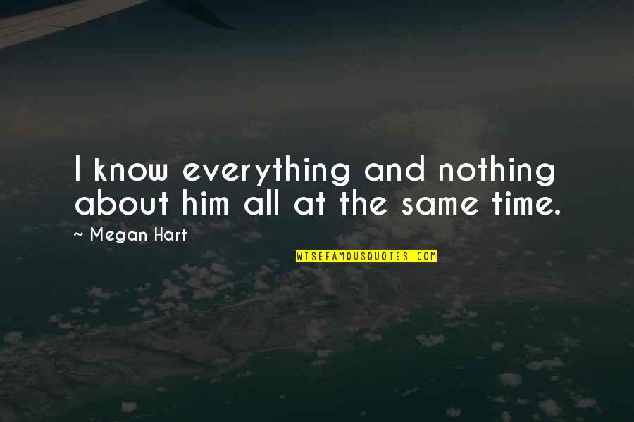 Nothing Was Ever The Same Quotes By Megan Hart: I know everything and nothing about him all