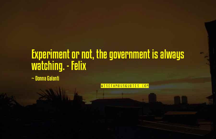 Notscorn Quotes By Donna Galanti: Experiment or not, the government is always watching.
