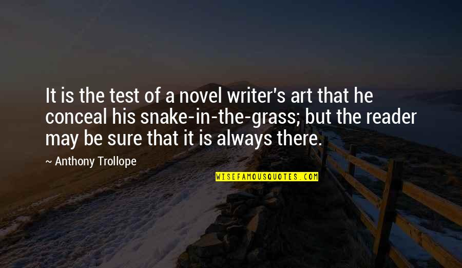 Novel Reader Quotes By Anthony Trollope: It is the test of a novel writer's