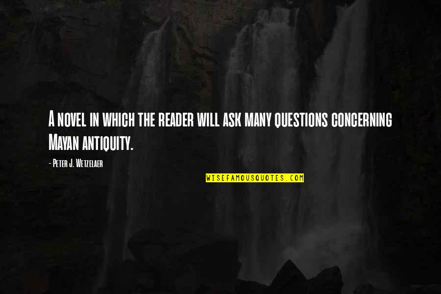 Novel Reader Quotes By Peter J. Wetzelaer: A novel in which the reader will ask