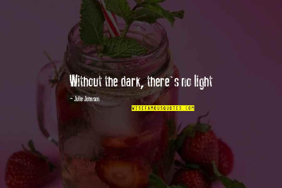 Novruz Holiday Quotes By Julie Johnson: Without the dark, there's no light