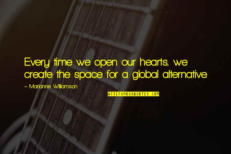 Now Is The Time To Open Your Heart Quotes By Marianne Williamson: Every time we open our hearts, we create