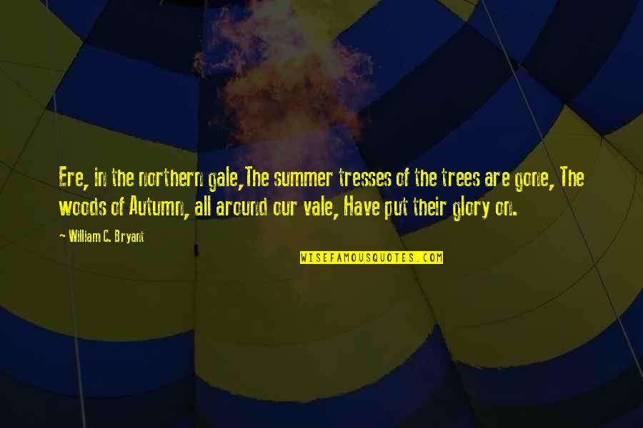 Now That Your Gone Quotes By William C. Bryant: Ere, in the northern gale,The summer tresses of