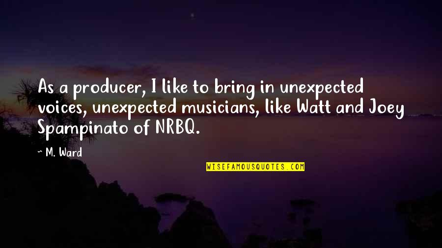 Nrbq Quotes By M. Ward: As a producer, I like to bring in