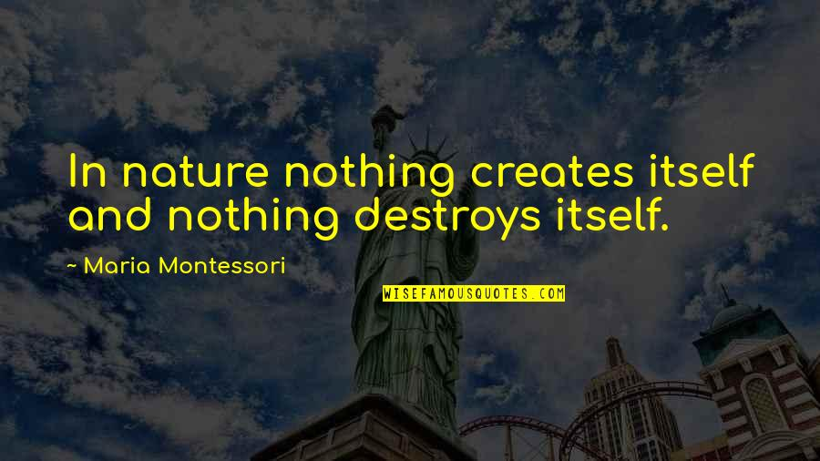 Nse Derivatives Quotes By Maria Montessori: In nature nothing creates itself and nothing destroys