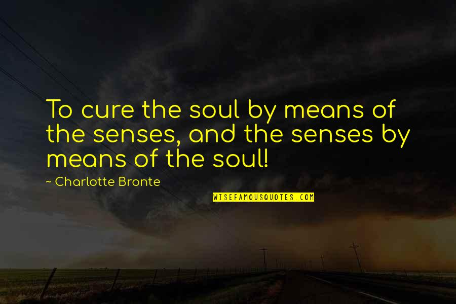 Nsn Song Quotes By Charlotte Bronte: To cure the soul by means of the