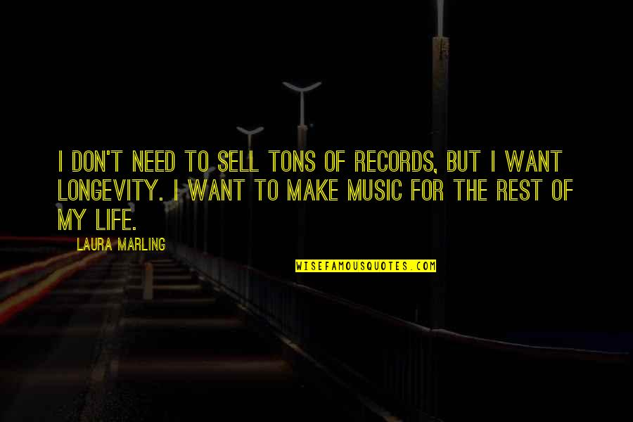 Nucleobases Quotes By Laura Marling: I don't need to sell tons of records,