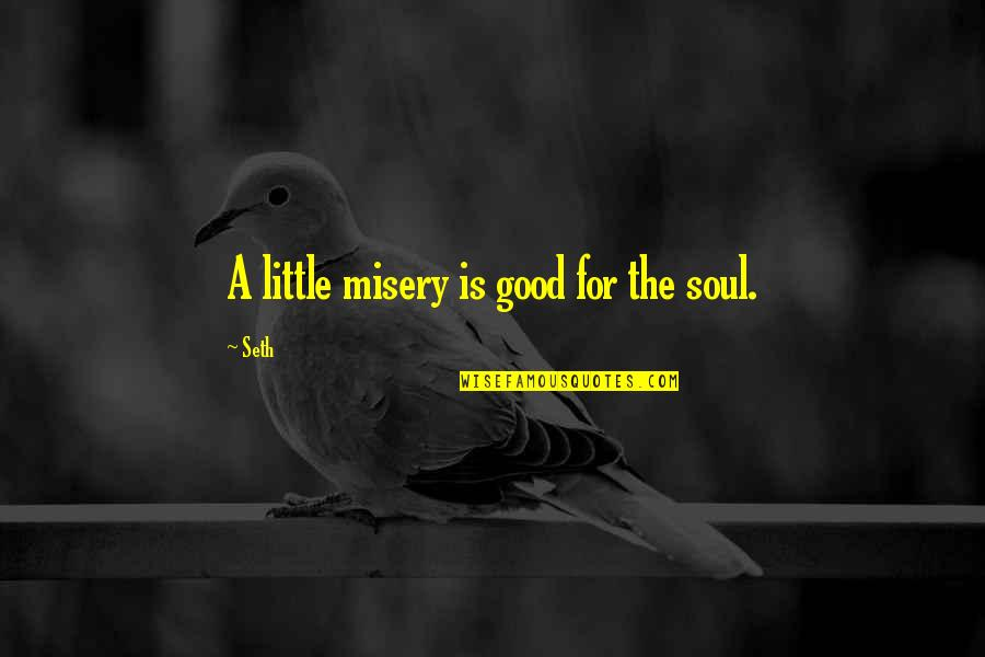 Nucleobases Quotes By Seth: A little misery is good for the soul.