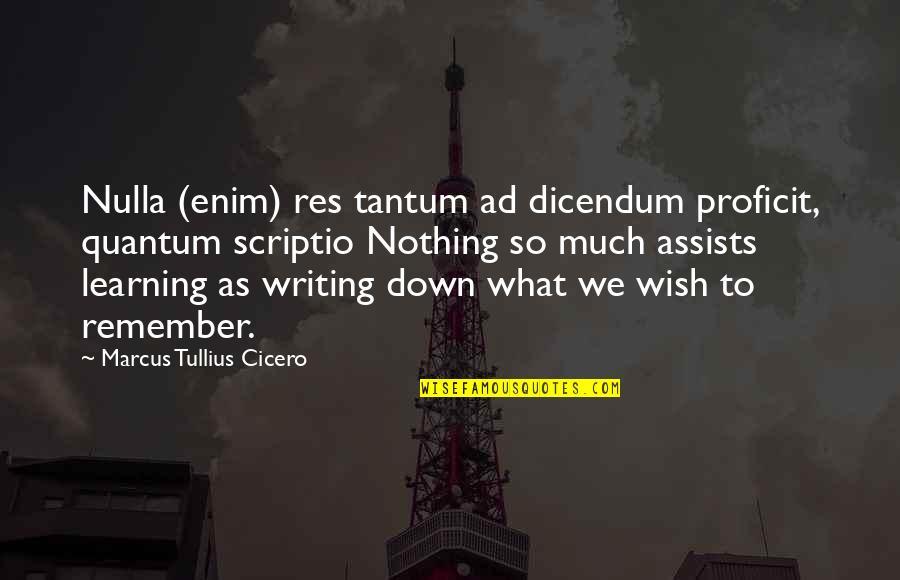 Nulla Quotes By Marcus Tullius Cicero: Nulla (enim) res tantum ad dicendum proficit, quantum