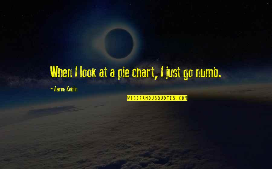 Numb Quotes By Aaron Koblin: When I look at a pie chart, I