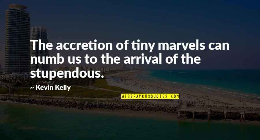 Numb Quotes By Kevin Kelly: The accretion of tiny marvels can numb us