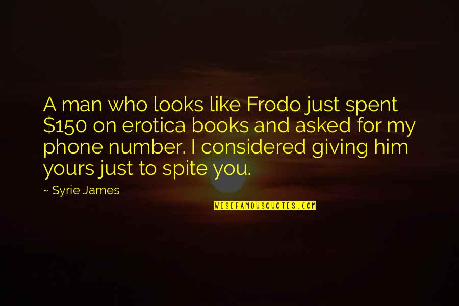 Number Of Friends Quotes By Syrie James: A man who looks like Frodo just spent