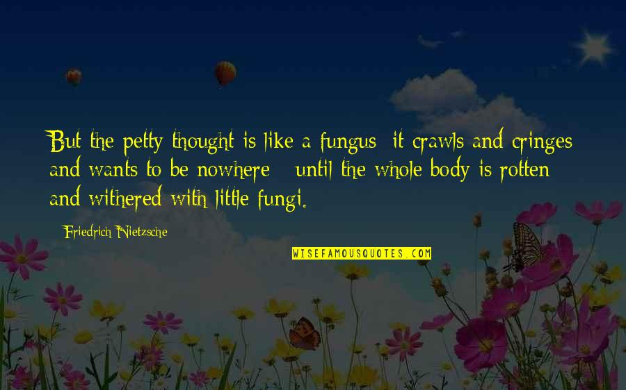 Nunchuck Quotes By Friedrich Nietzsche: But the petty thought is like a fungus:
