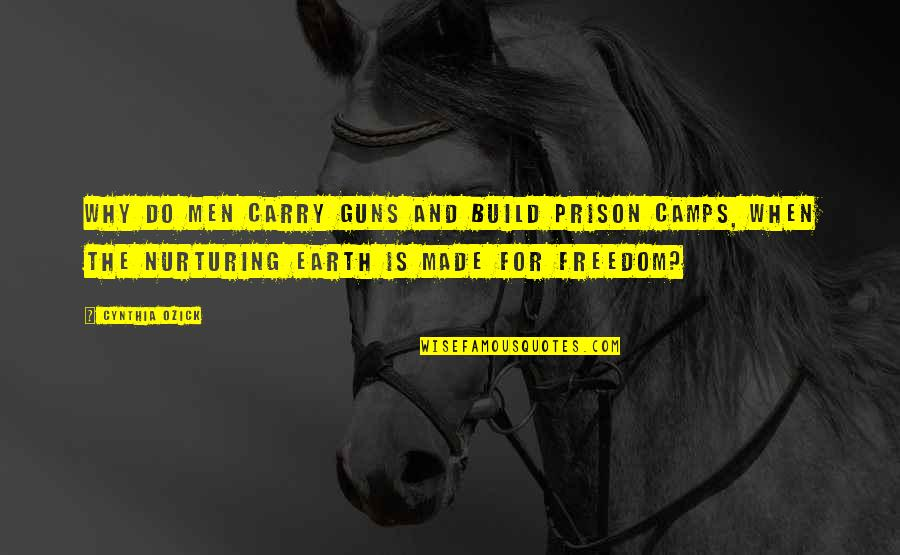 Nurturing Quotes By Cynthia Ozick: Why do men carry guns and build prison