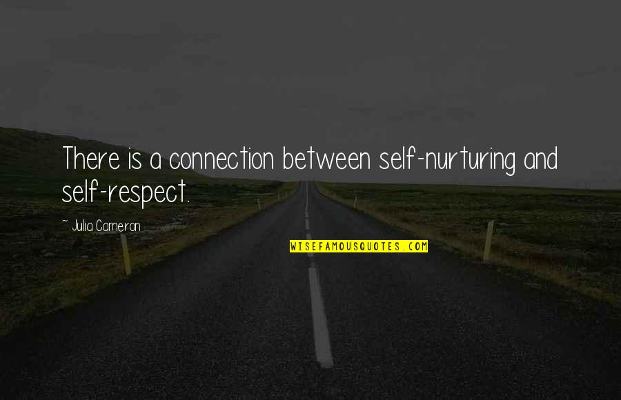 Nurturing Quotes By Julia Cameron: There is a connection between self-nurturing and self-respect.
