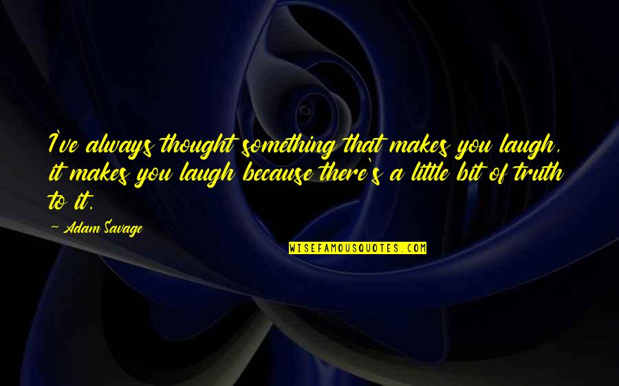 Nutuk Quotes By Adam Savage: I've always thought something that makes you laugh,