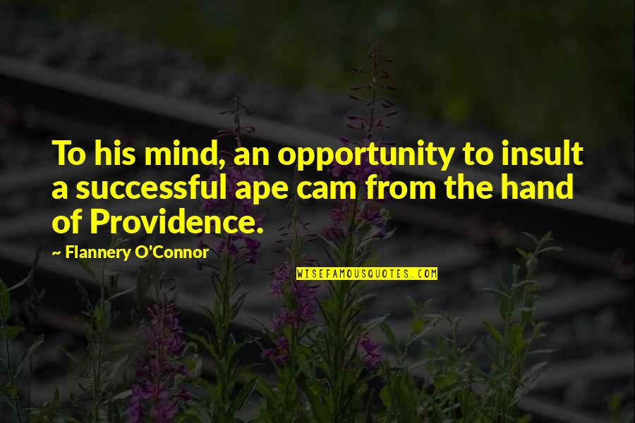 O.a.r. Quotes By Flannery O'Connor: To his mind, an opportunity to insult a