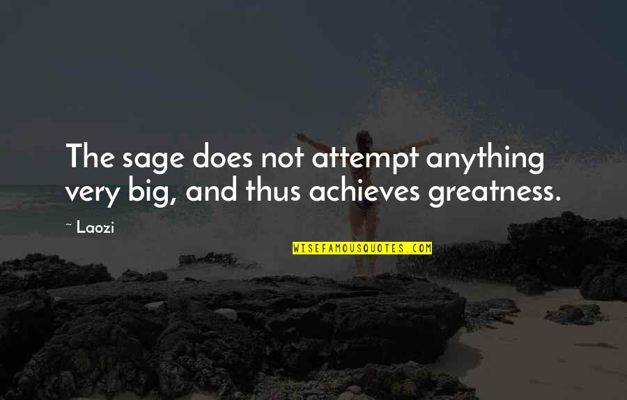 Oak Island Quotes By Laozi: The sage does not attempt anything very big,