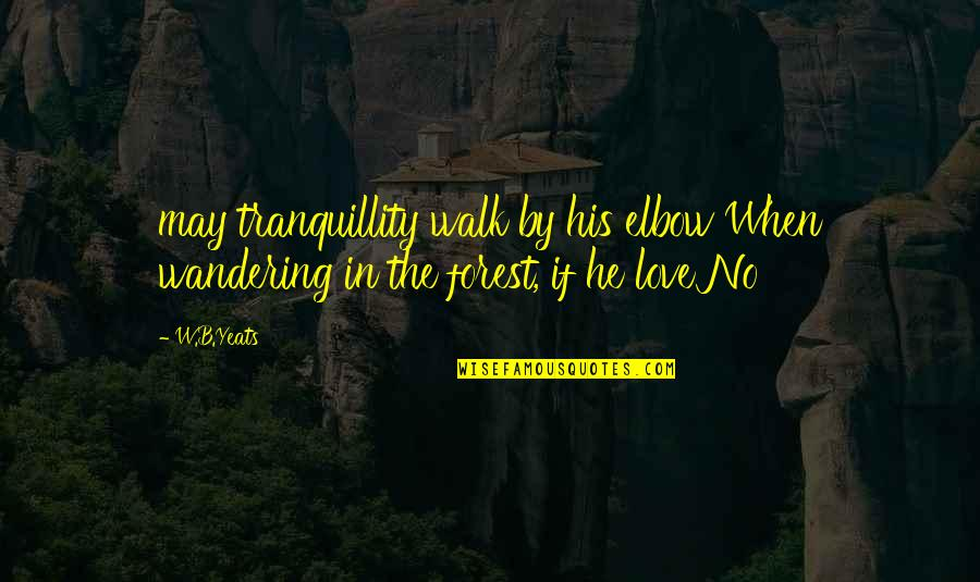 Oak Island Quotes By W.B.Yeats: may tranquillity walk by his elbow When wandering